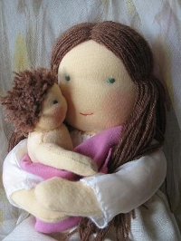 Формирование лица у куклы