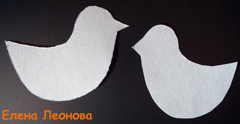 Птичка на палочке своими руками из картона